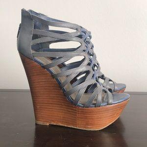 Dust blue high heels